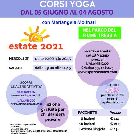 Locandina Corsi Estate 2021 - Fronte 2021